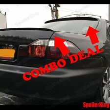 COMBO Spoilers (Fits: Infiniti G35 2003-06 4dr) Rear Roof Wing & Trunk Lip