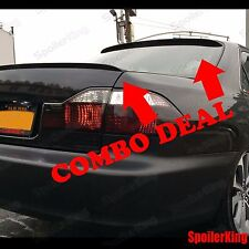 COMBO Spoilers (Fits: Honda Accord 1994-97 4dr) Rear Roof Wing & Trunk Lip