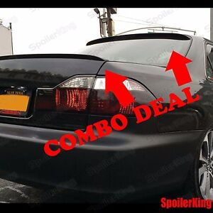 COMBO Spoilers (Fits: Toyota Avalon 2005-12) Rear Roof Wing & Trunk Lip