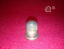 1892 Antique Simons Silver Thimble  Words Exposition Columbia
