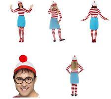 Women's Girl's Wheres Wally Wenda?  Fancy Dress Costume Book Week Benidorm Hen