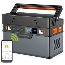 666Wh Solar Portable Power Station Portable Generator Emergency Power Supply Us