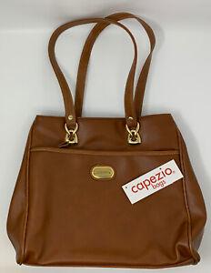 CAPEZIO bags HANDBAG Tan/Brown Purse Satchel Shoulder Strap 12X11 20-2847