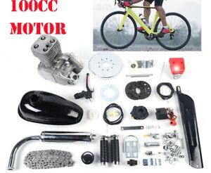 100cc Bicycle Petrol Engine 2 Stroke Gas Motorized Motor CDI + 44 Tooth Sprocket