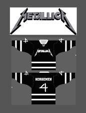 METALLICA 4 HORSEMEN Pro Style Hockey Jersey M MEDIUM sz 44 wwe wwf wcw nwa