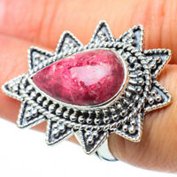 Large Thulite 925 Sterling Silver Ring Size 6.25 Ana Co Jewelry R31549F