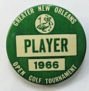 "1966 NEW ORLEANS OPEN GOLF TOURNAMENT  2.25"" PLAYER pinback button ^"