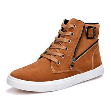 Athletic Sneakers Mens Zip Up Casual High Top Sport Shoes Buckle Ankle Boots New