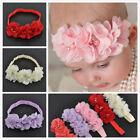 New Baby Girls Chiffon Flower Headband Soft Elastic Hairband Hair Accessories