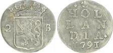 Niederlande - Provinz Holland - 2 Stuiver 1791 - Hollandia ss+ 47288