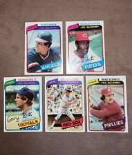 1980 TOPPS ALL-STARS LOT (5 Cards) NM/Near-Mint - Yaz Brett Schmidt Carew Foster