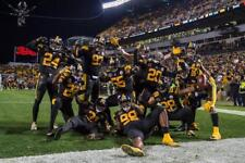 PITTSBURGH STEELERS DEFENSE CLEBRATION  COLOR 8X10  ON 11/16/17 VS TITANS