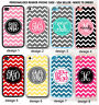 CUSTOM PERSONALIZED CHEVRON MONOGRAM RUBBER SILICONE CASE FOR IPHONE XS XR 8 7 6