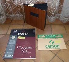 Carnet à dessin, bloc et pochette Canson