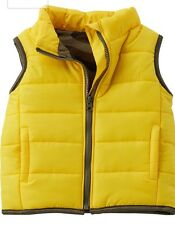 Baby boy Carters Puffer Jacket Vest  Yellow Newborn Size $34 Brand-New With Tags