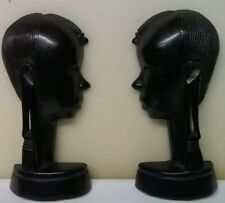 Tanganyika African Ebony Hand Carved Wall Silhouettes Figure