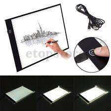 A4 LED Table à Dessin, Tablette Lumineuse Professionnelle Ultra Plat Avec 3 Type
