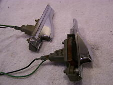 1966 CHRYSLER NEW YORKER FRONT FENDER MOUNTED TURN SIGNALS - NICE OEM PAIR