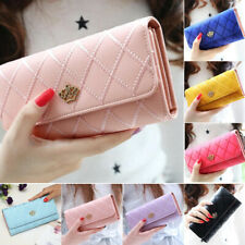 Women Lady Leather Wallet Long Large Purse Card Phone Holder Case Clutch Handbag