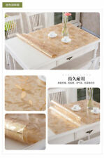 Rectangle Soft Glass PVC Table Surface Protector Cover Waterproof Tablecloth Mat