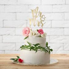 Tortendekoration 'Mr & Mrs' - gold Hochzeit Vintage Tortenaufsatz Cake Topper