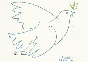Postkarte: Pablo Picasso - Die blaue Taube
