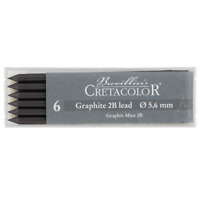 CRETACOLOR artist Mine graphite, 5,6 mm, 2B, 6 pieces