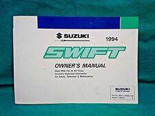 OEM 1994 SUZUKI SWIFT OWNER'S MANUAL Nice condition