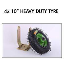 4x 10 Inch Swivel Castor Caster Pneumatic Tyres Wheels Trolley Cart Wheelbarrow