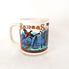Vintage Kansas Mug Travel Souvenir Buffalo Wildlife 1993