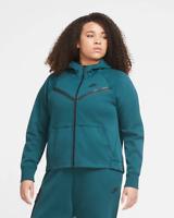 NEW Women's Nike Plus Size Sportswear Tech Fleece Full-Zip Cape Hoodie 1X 2X 3X