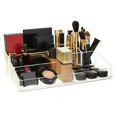 9 Compartment Clear Cosmetic Organiser Make Up Jewellery Display Storage Holder