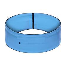 Unisex Elasticated Running Yoga Waist Belt Bag Zip Pouch Blue Belt (M)