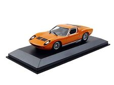 Lamborghini Miura 1966 Orange Modèle de Voiture 1 43 / Maxichamps