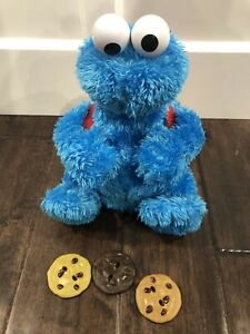 Sesame Street Count n Crunch Cookie Monster talking plush ~ Complete Tested 🍪