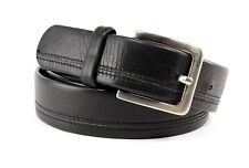 ARALDI Genuine Black Leather Men's Belt Size XL 37 Made In ITALY