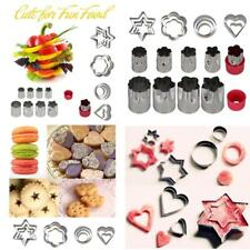 20 PCS Stainless Steel Fruits Cookies Vegetable Cutter Shapes Mold Bake Set