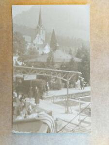 Lucerne, Switzerland WEGGIS Old Postcard - BOAT STATION ?