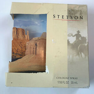 Stetson Cologne Spray scent of the American West 1.18 oz boxed NIB