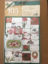 105 Holiday Peel -n-stick Self Stick Gift Tags *Usa Seller*Free Shipping*