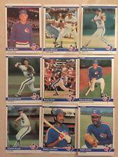 1984 Fleer Texas Rangers Complete Team Set!