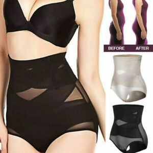 Women High-Waist Slimming Tummy Control Knickers Body Shaper Briefs Underwear UK