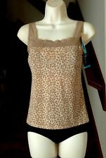 Vanity Fair Fit Your Body Foundation Animal Print Cami Size 38