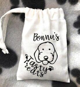 Personalised Tasty Treat Bag - Fresh White Cotton Drawstring Bag - Handmade Item