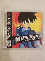 Mega Man Legends Playstation one ps1 TESTED MISSING BACK ARTWORK FREE S/H