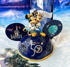 NWT 2021 Walt Disney World 50th Anniversary Light-Up Mickey Ear Hat Ornament