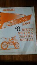 1999 Suzuki RM125 Owners Service Manual