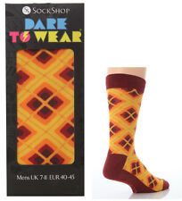 Mens Dare To Wear Novelty Gift Box Socks size 7-11 Uk, 40-45 Eur, Seventies!