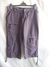Ladies Trousers Karen Millen, size 12/8 US, brown combat/cargo cotton 0572 marks
