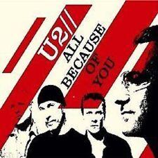 U2 All Because of You 2TRX MIX & She's a Mystery LIVE CD Single SEALED USA seler